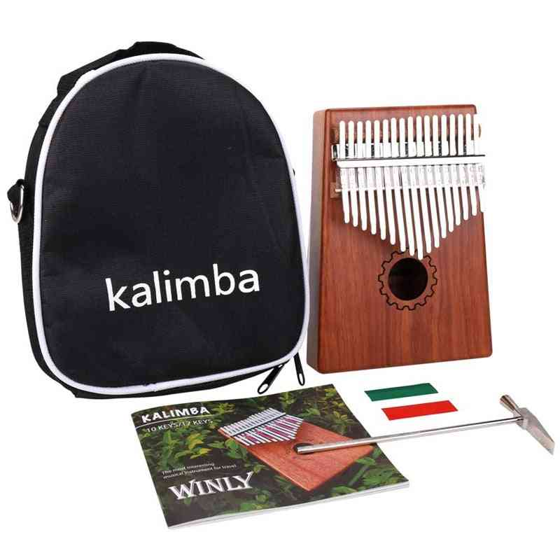 17 Key Kalimba Thumb Piano With Bag For Lover, Beginners,