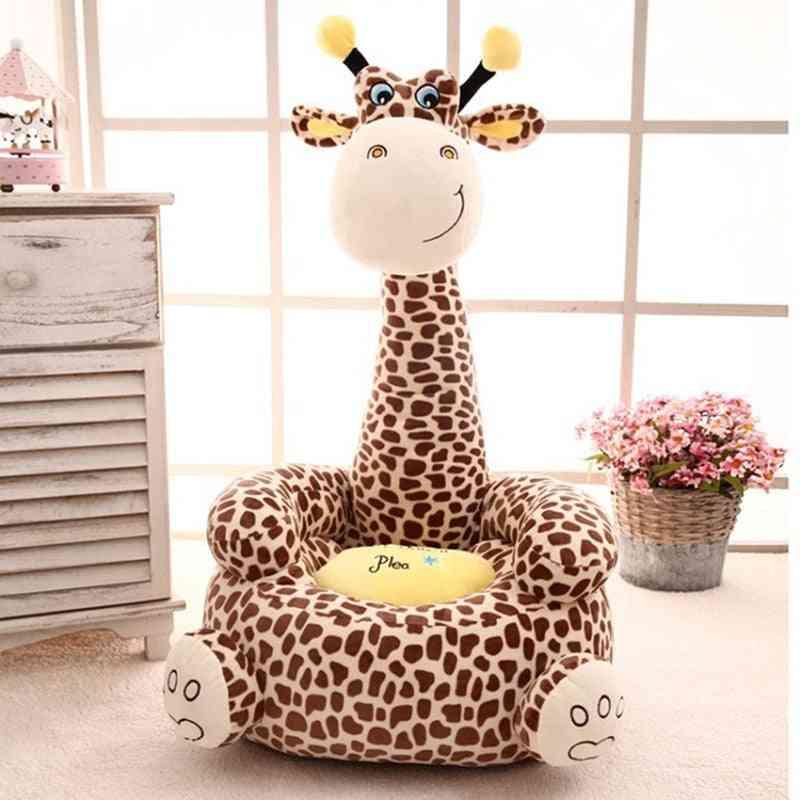 Children Sofa Comfortable Cartoon Cotton Animal Giraffe Portable Chair
