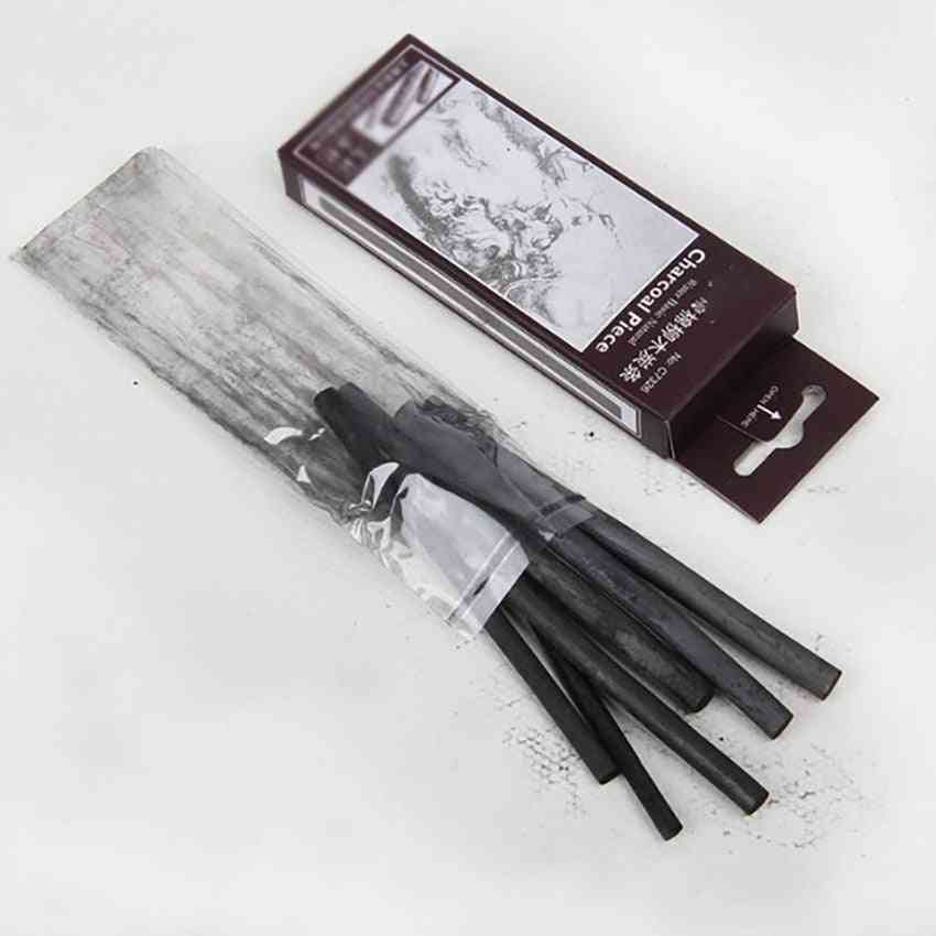 6pcs/set 11*0.7cm Sketching Charcoal Strips Cotton Willow Charcoal Bars For Artist