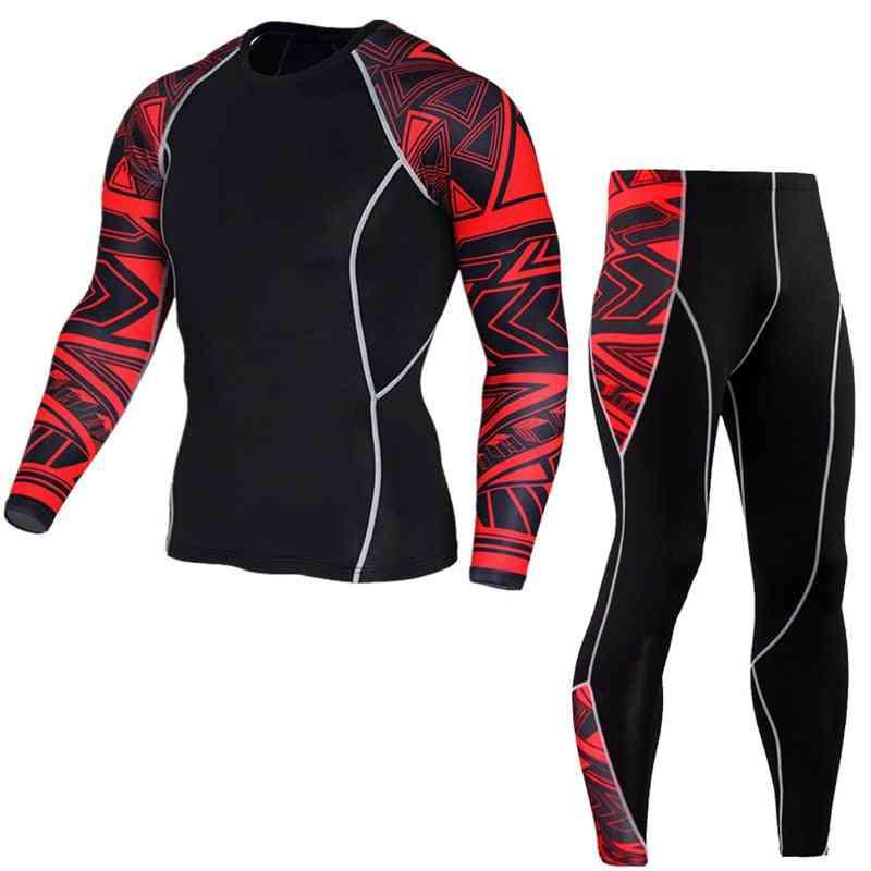 Men Running Sport T-shirt Pants/suits Jogging Tracksuit Sets, Gym Training Sportswear
