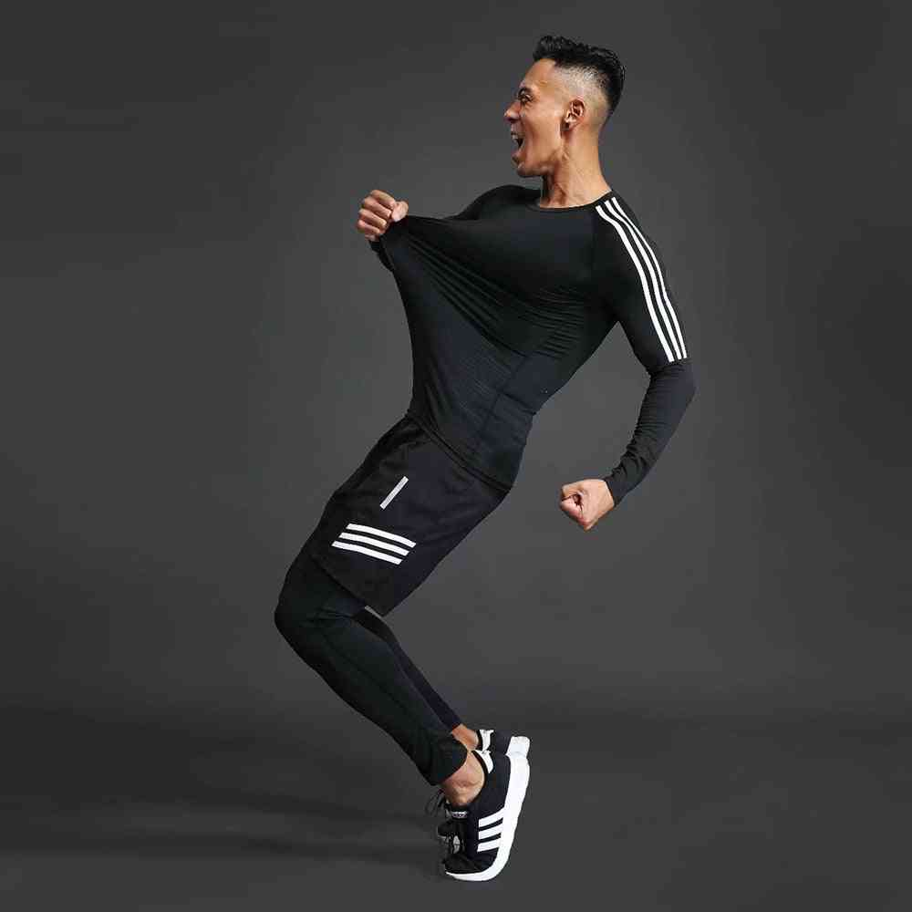 Men's Sports Training Suit, Gym/jogging/running Tight Fitness Workout Clothes