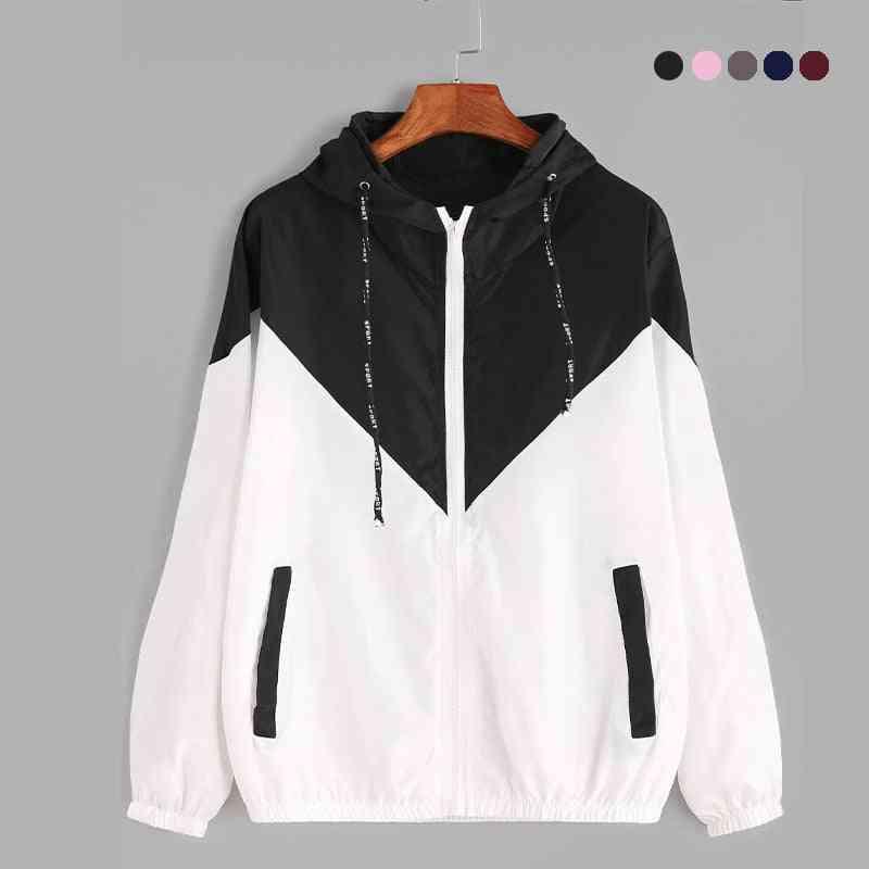 Skin Running Jacket Woman, Thin Sports Wear For Gym, Outdoor Sport Zipper Jacket