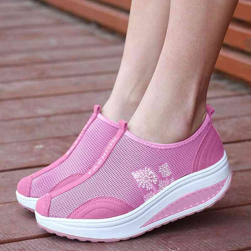 Thick Sole Summer Women Swing Breathable Shoes