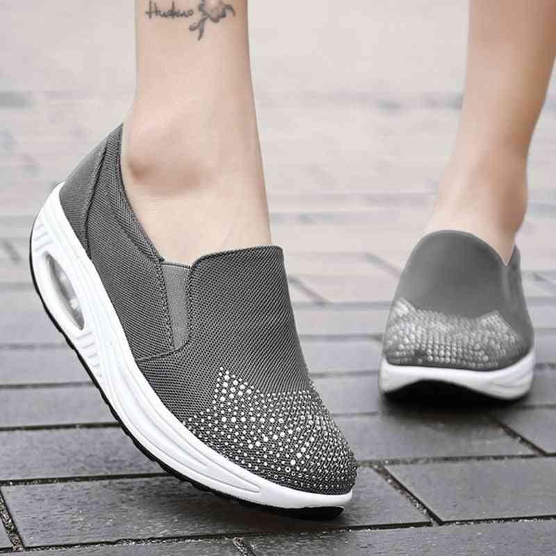 Women Platform Cat Design Beautiful Shape Ups Rocking Shoes