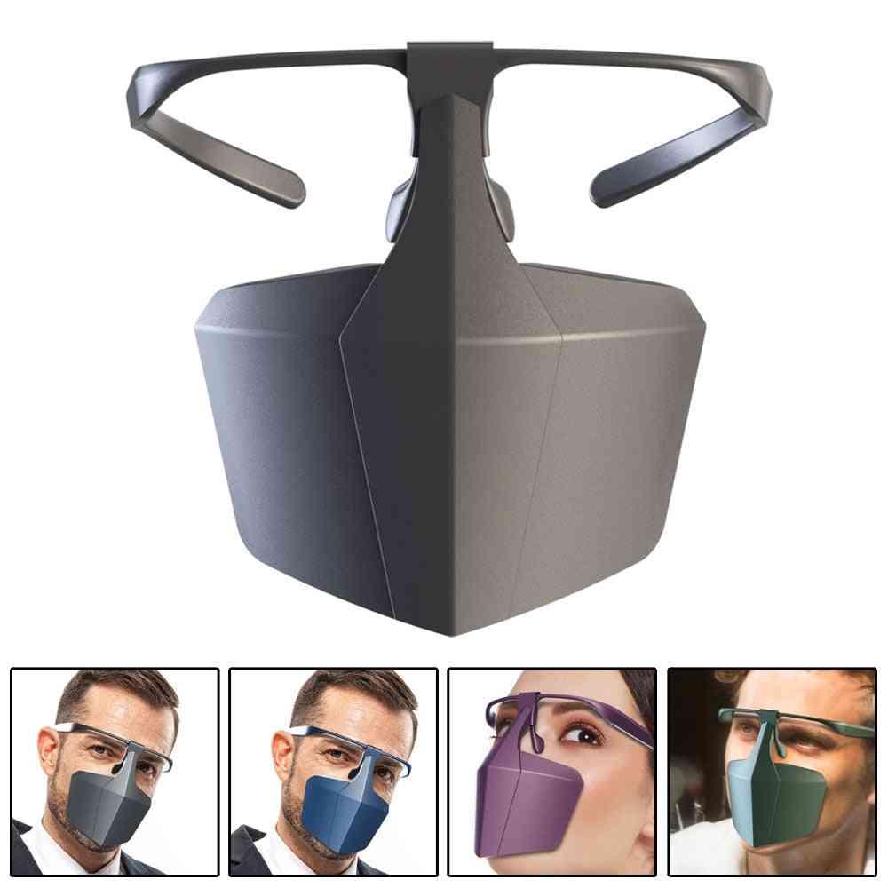 Anti-fog Splashproof Cover Saliva Reusable Glasses Mist Mask