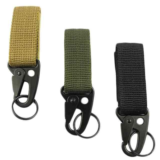 Attach Belt Clip Webbing Backpack Strap, Outdoor Water Bottle Hanger Tactical Holder Hook