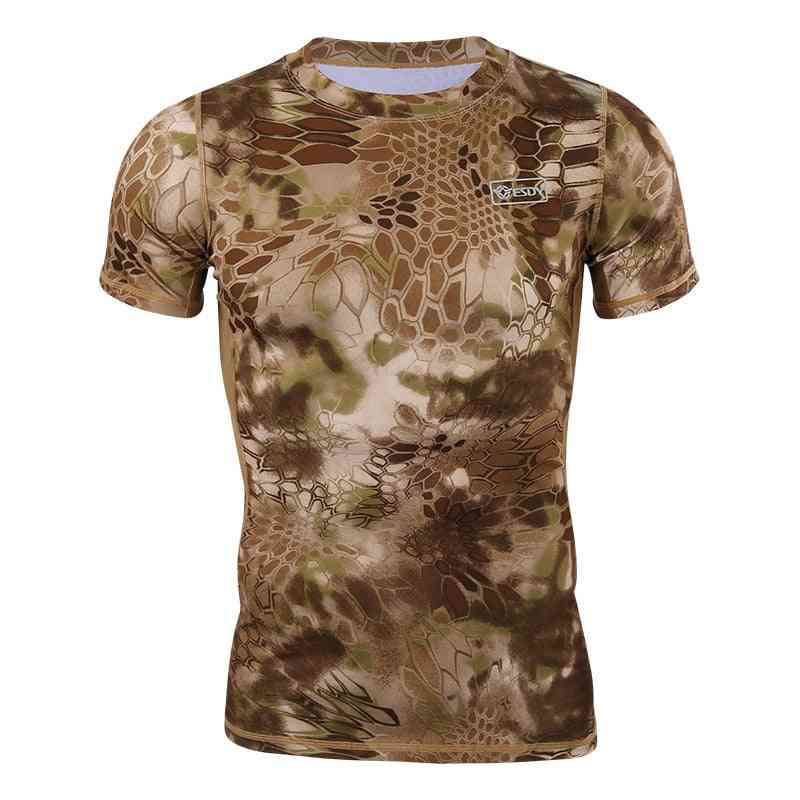 Hunting Outdoor Shirts, Quick Drying Tactical Tee Tops