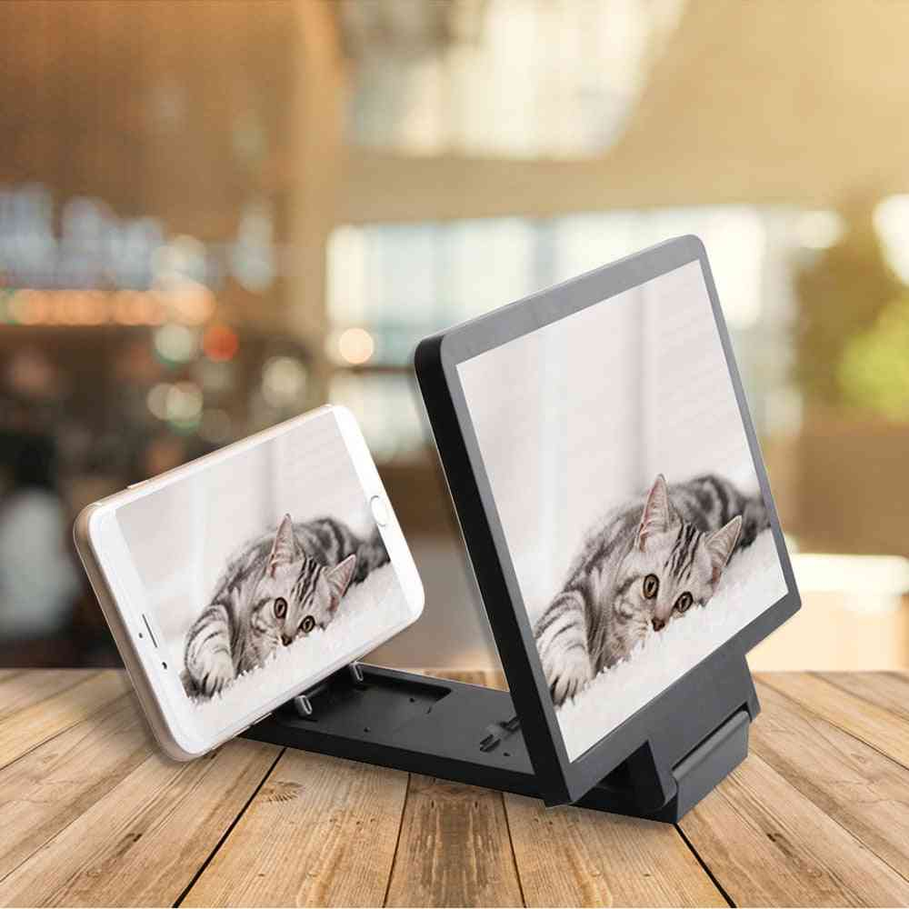 3d Mobile Phone Screen Magnifier Video Amplifier Smartphone Stand