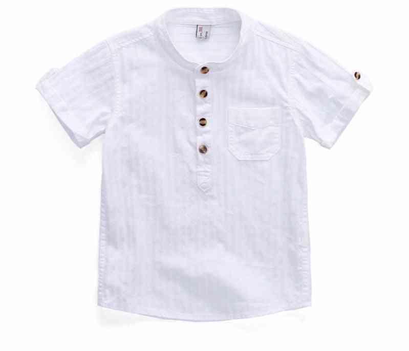 Summer Style, Cotton Fabric, Short Sleeve Shirt