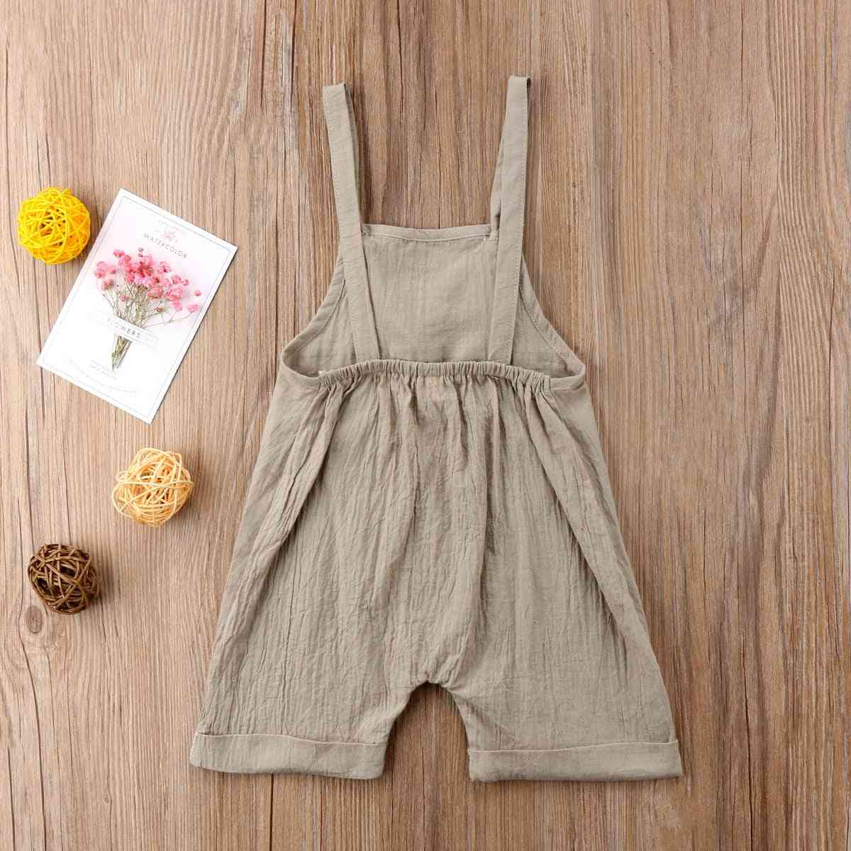 Sleeveless Kid's Jumpsuit- Overalls For Baby Boy