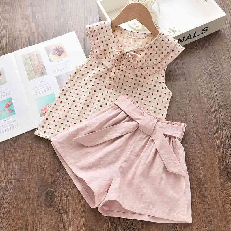 Sleeveless Casual Top And Shorts Set For