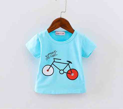 Short Sleeve, Bicycle Pattern T-shirts For