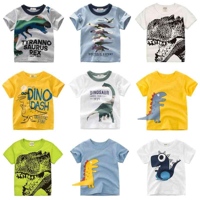 Cartoon Dinosaur Print Summer T-shirt For And