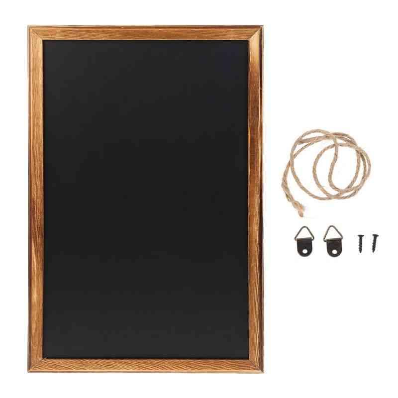 Rectangle Hanging Wooden Blackboard