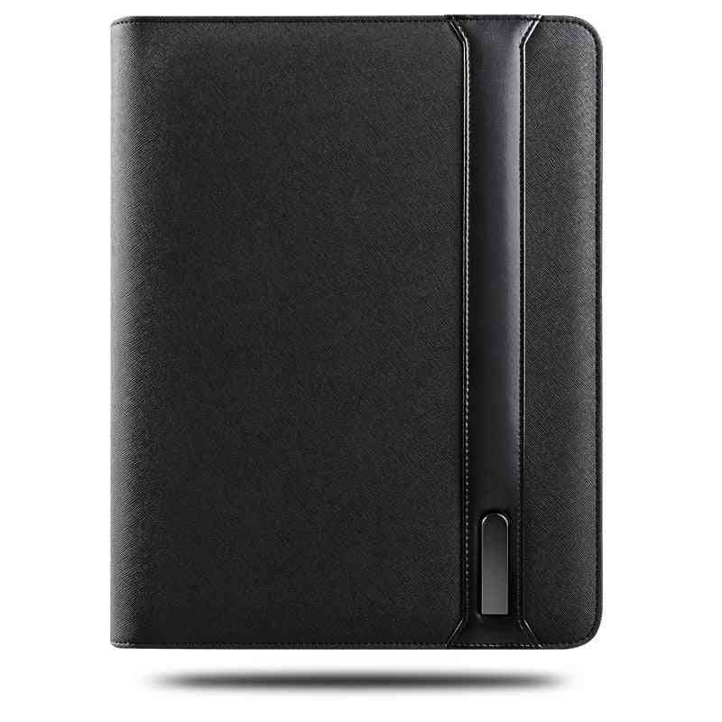 Business Travel A4 Padfolio With Zipper, Manager Bag And Wireless Charger