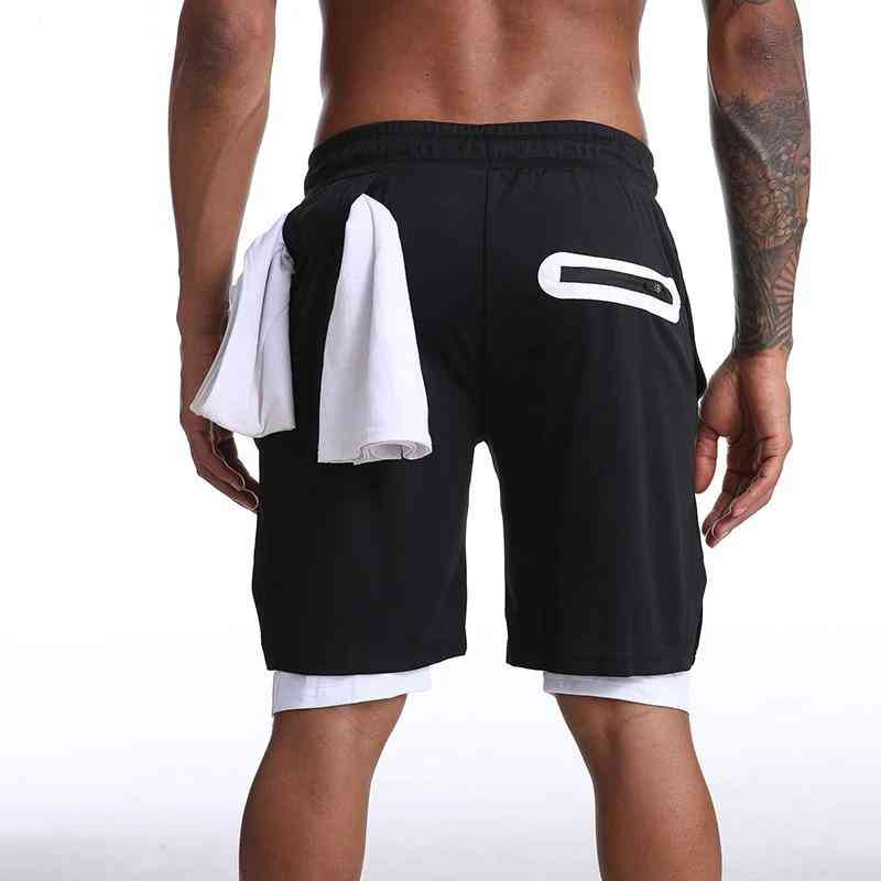 Running Shorts Jogging Gym Fitness Training Quick Beach Short Pants, Sports Workout Clothing