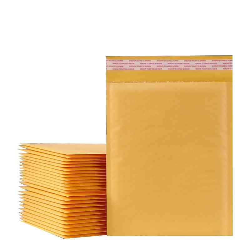 Kraft Paper Bubble Envelopes Bags, Padded Mailers, Shipping With Bubble Packaging, Courier Storage