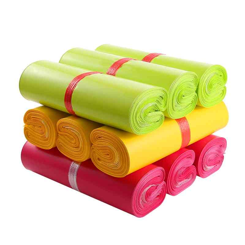 Colorful Waterproof Express Bags, Disposable Courier Pack For Delivery, Mail Envelope Shipping