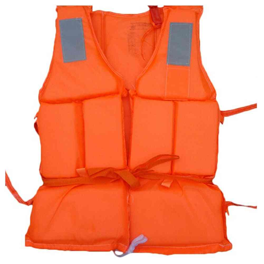 Outdoor Lightweight Adult Swimming Life Jacket Vest With Sos Whistle