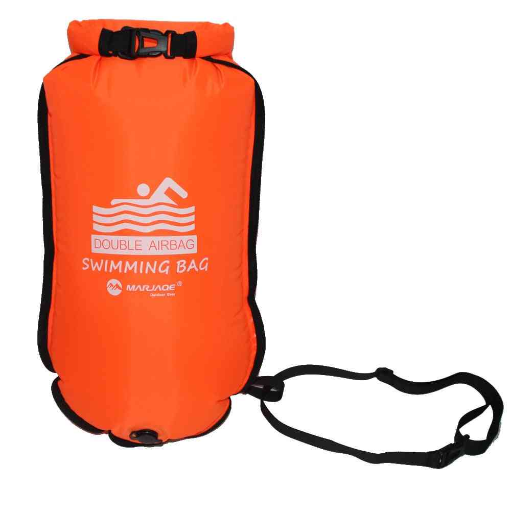 Inflatable Swimming Buoy Tow - Float Dry Double Air Bag With Waist Belt
