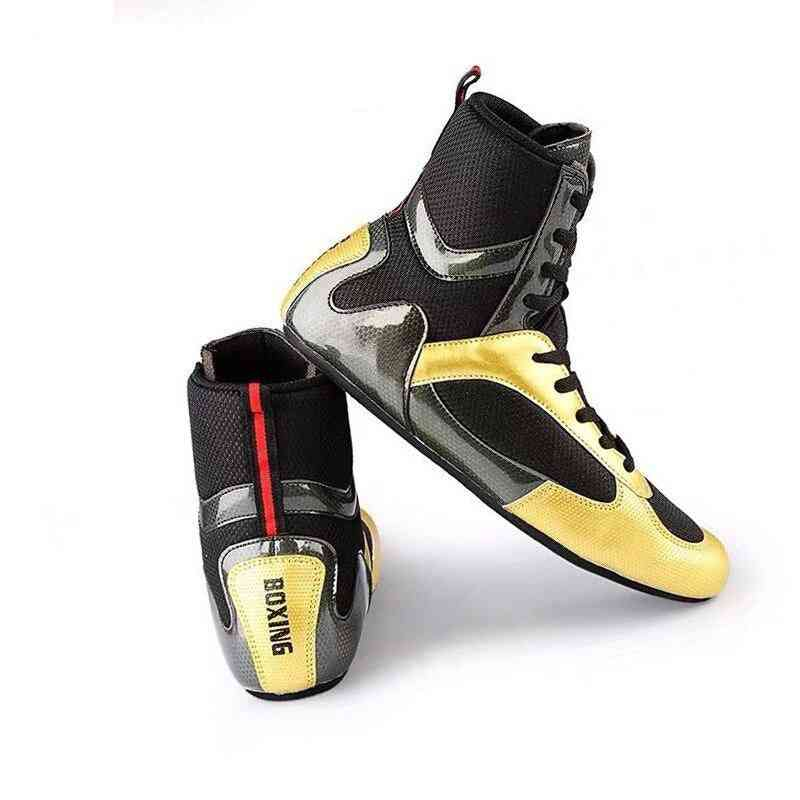 Boxing Higt-ankle, Wrestling Shoes, Anti-slip Sneakers