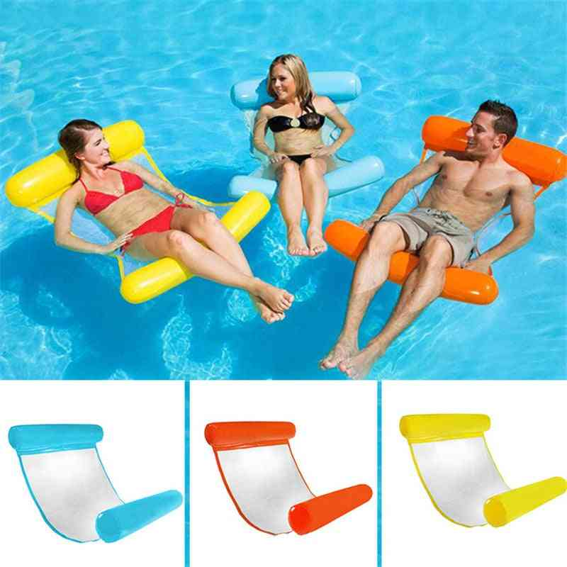 Water Hammock Recliner- Inflatable Floating Swimming Mattress