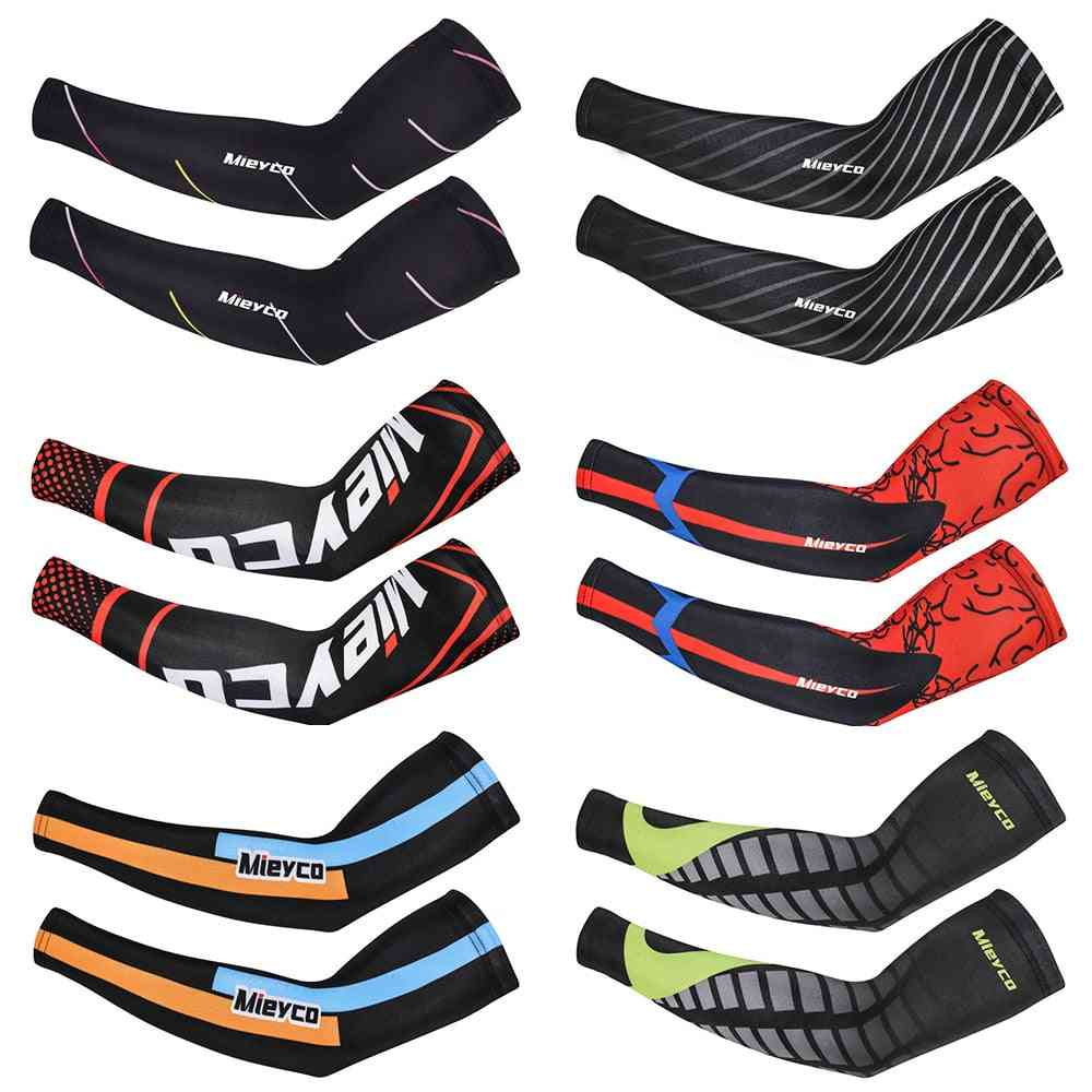 Uv Protection And Sweat Abrobing Arm Sleeves For Outdoor Sports