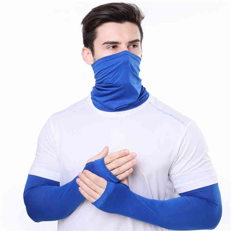 Sun Protection Face Cover Mask And Cooling Arm Sleeves