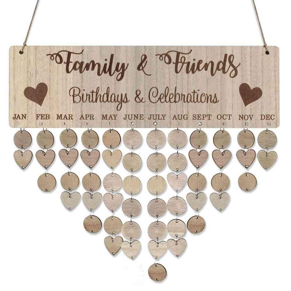 Families Friends Birthday Celebration Calendar Reminder Planner