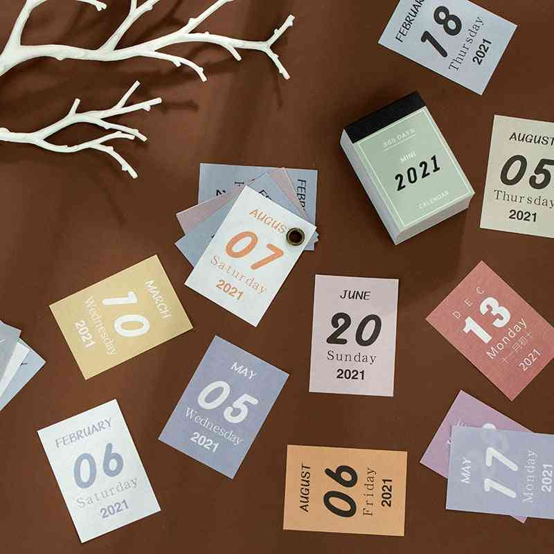 Mini Desk Calendar For School Schedule