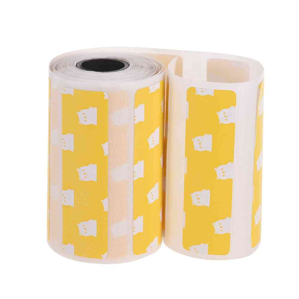 Cute Cartoon Direct Thermal Labels Roll Strong Adhesive Sticker