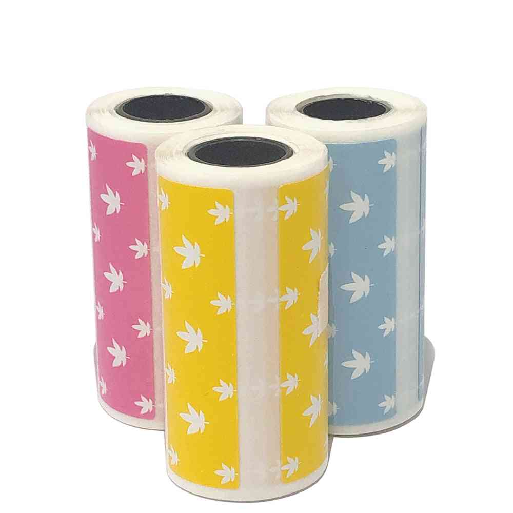 Cute Cartoon Direct Thermal Labels Roll, Strong Clear Printing Adhesive Sticker