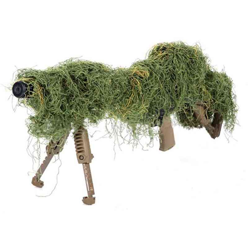 Elastic Synthetic Ghillie Suit Gun Rope Paintball Airsoft Rifle Wrap Cover