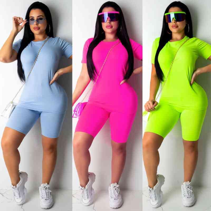 Women Tracksuit Sports Suit Crop Top & Pants Outfit Set