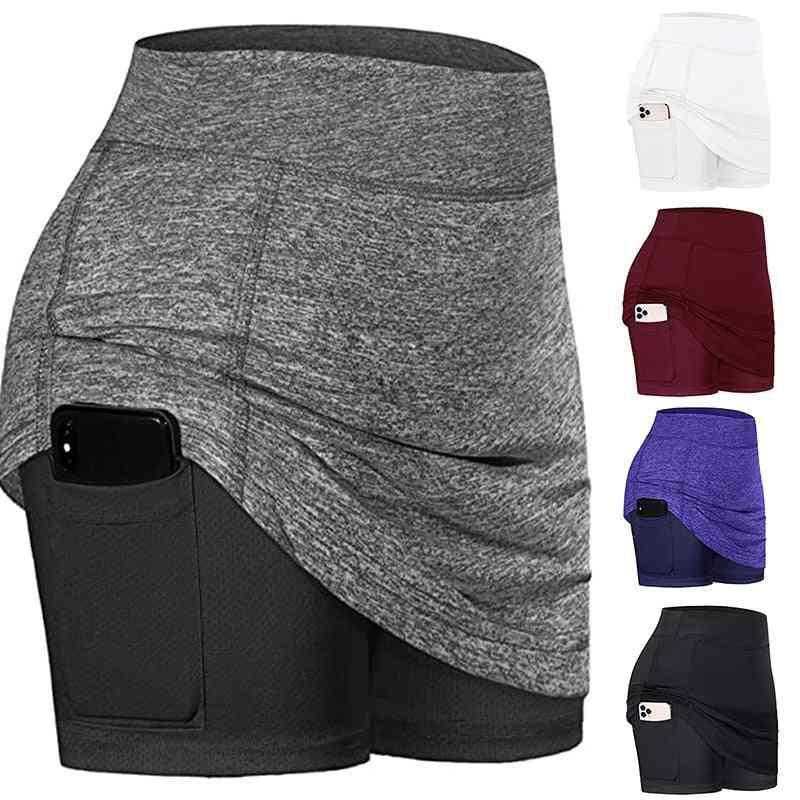 Athletic Lightweight Skirt With Pockets Shorts Inner Running Tennis Golf Wear