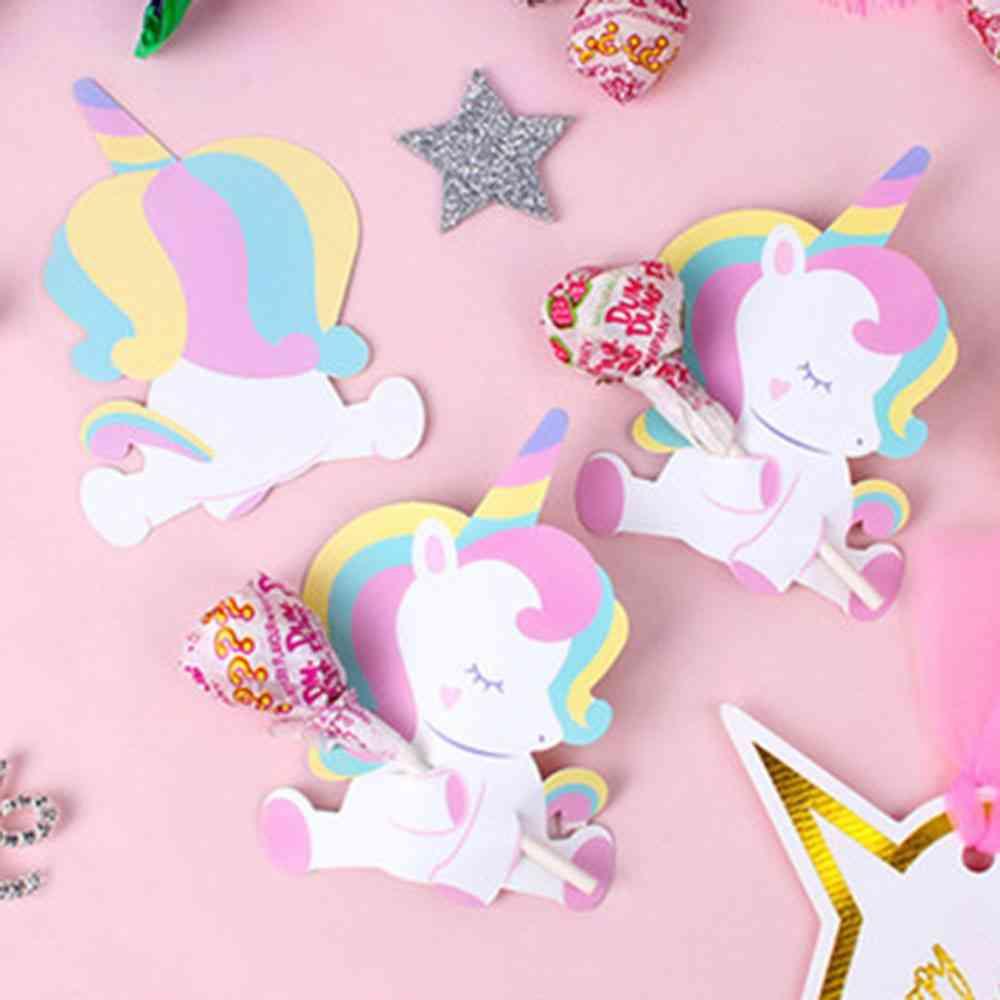 Baby Unicorn, Lollipop, Decoration Cards