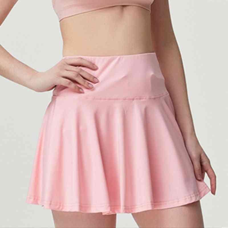 Solid Anti-exposure Fast Dry Sports Yoga Skirt