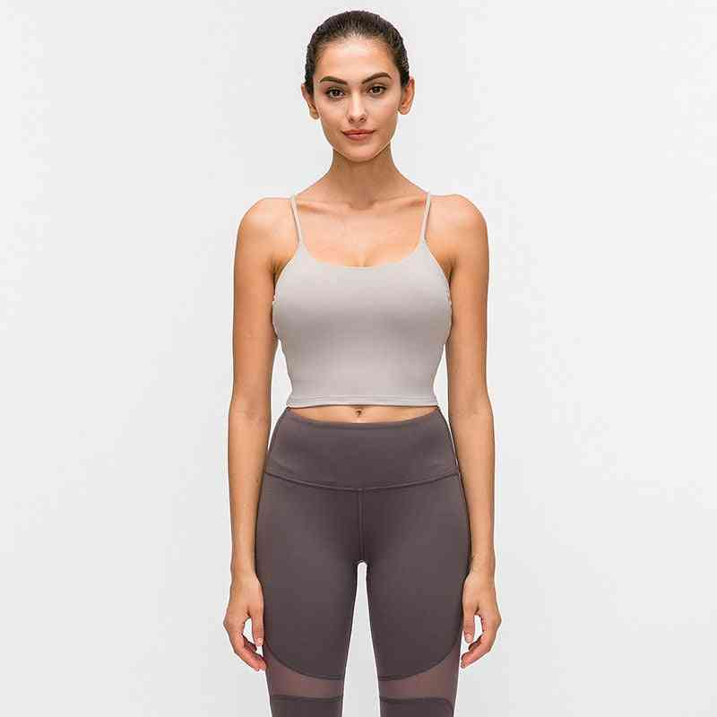 Women's Push Up Padded Gym Fitness Bras Crop Tops