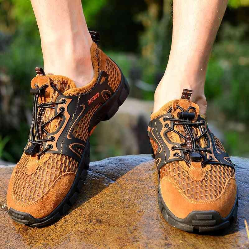 Men Hiking Waterproof Mountain Climbing Trekking Shoes