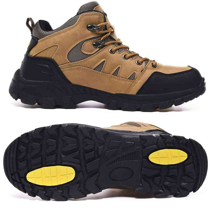 Men's Outdoor Hiking Shoes, Mountaineer Climbing Sneakers Waterproof Tactical  Camping Walking Boots