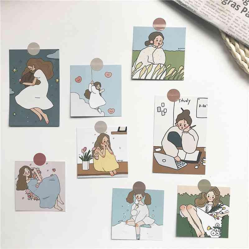 8 Sets Cute Girl Creative Photograph - Decorative Cards / Postcard