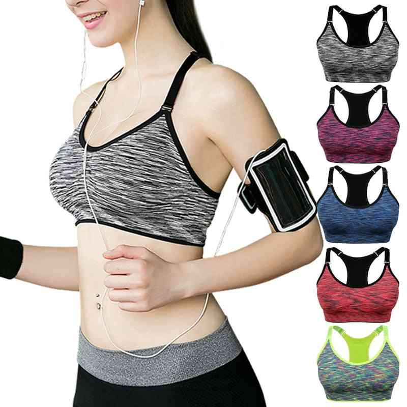 Women Wirefree Adjustable Fitness Quick Dry Padded Sports Bra