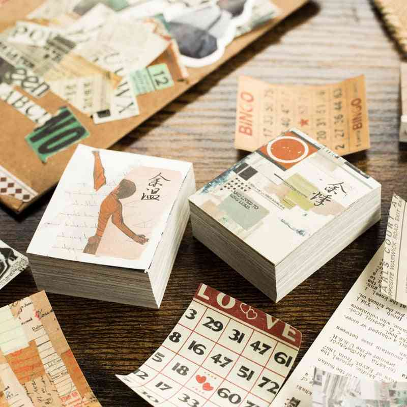 Collage Movie Writing Paper, Kraft Card, Journaling Bullet Scrapbooking Material Paper