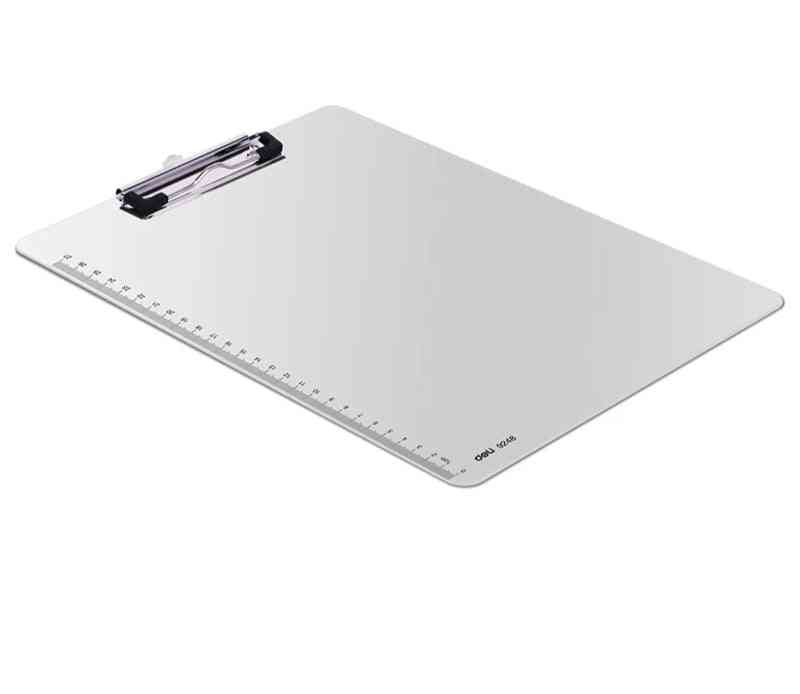 Deli Writing Board Clamp, Pp Material A4 Pad Plate Clip