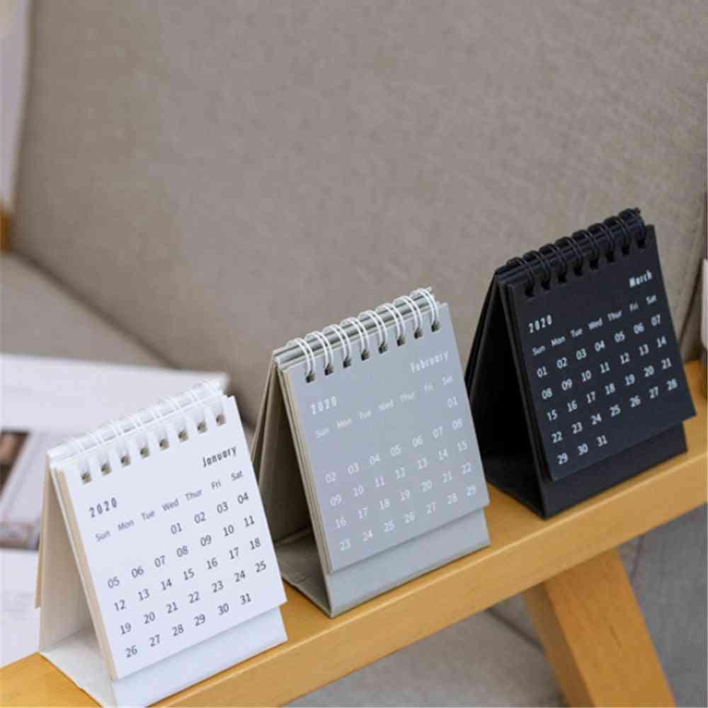 2021 Simple Series Desktop Calendar/dual Daily Schedule Table/planner