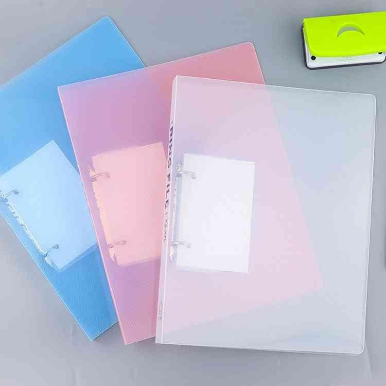 A4 2-holes Pp Clip File Folder Matte Loose Leaf Binder, Notebook Cover, Diary
