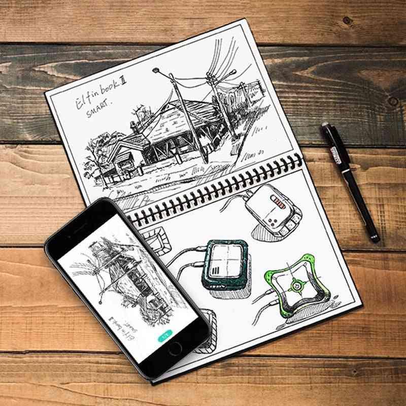 Smart Erasable Paper Reusable Smart Wirebound Notebook