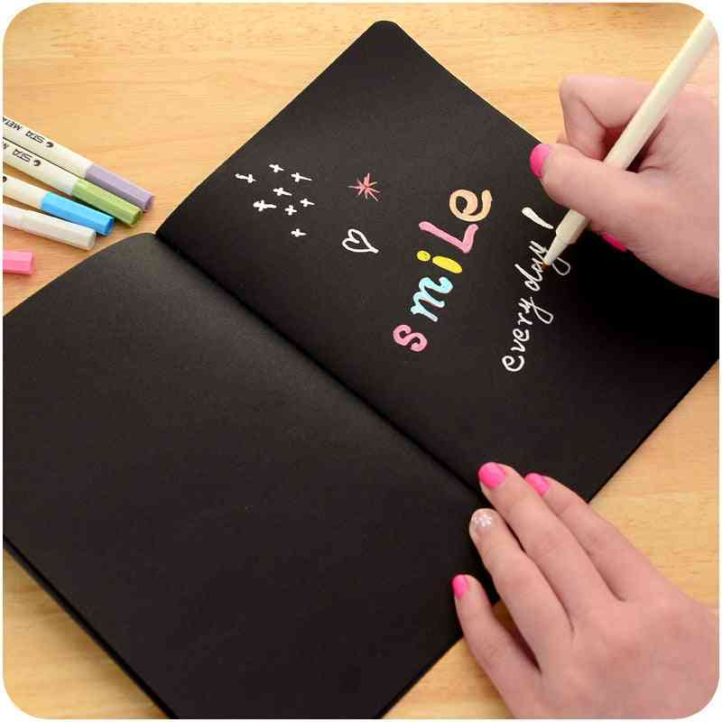 Blank Black Paper Sketch Book