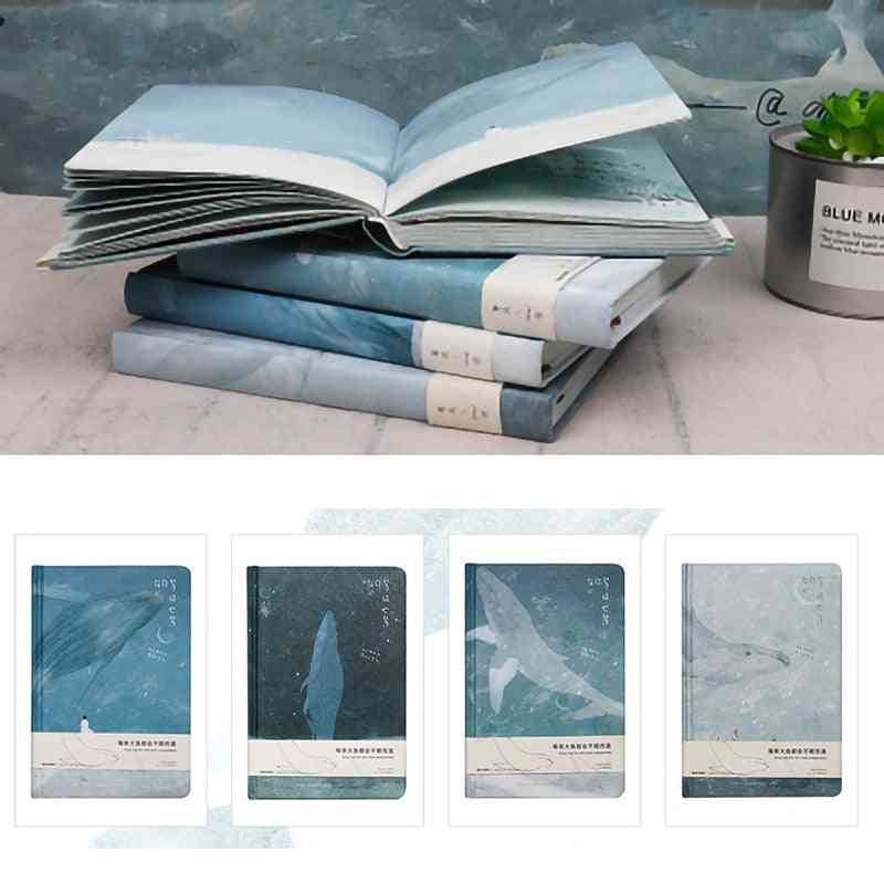 Doreen Paper With Whale Illustrations-notepad Diary