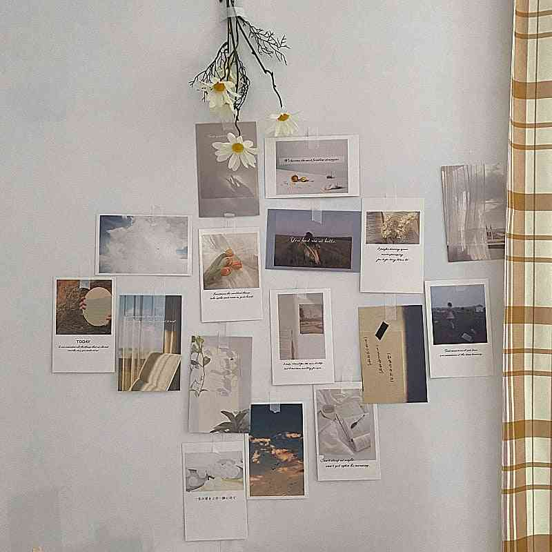 Photo Decoration Card Set, 30 Sheets Art Photography Props Collocation Postcard Diy Room Wall Sticker / Printing
